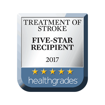 2017 5-Star Rating for Treatment of Stroke