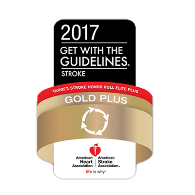 2017 Get With The Guidelines® Stroke - Gold Plus Honor Roll Elite Plus