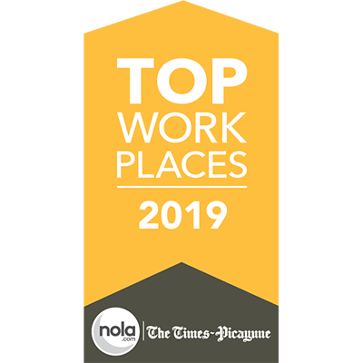 2019 Top Workplace by The Advocate/Times-Picayune